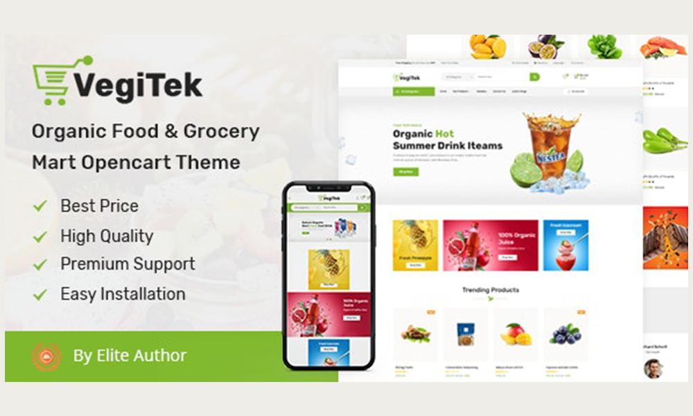 Vegitek  Organic Food & Grocery Mart Opencart Theme