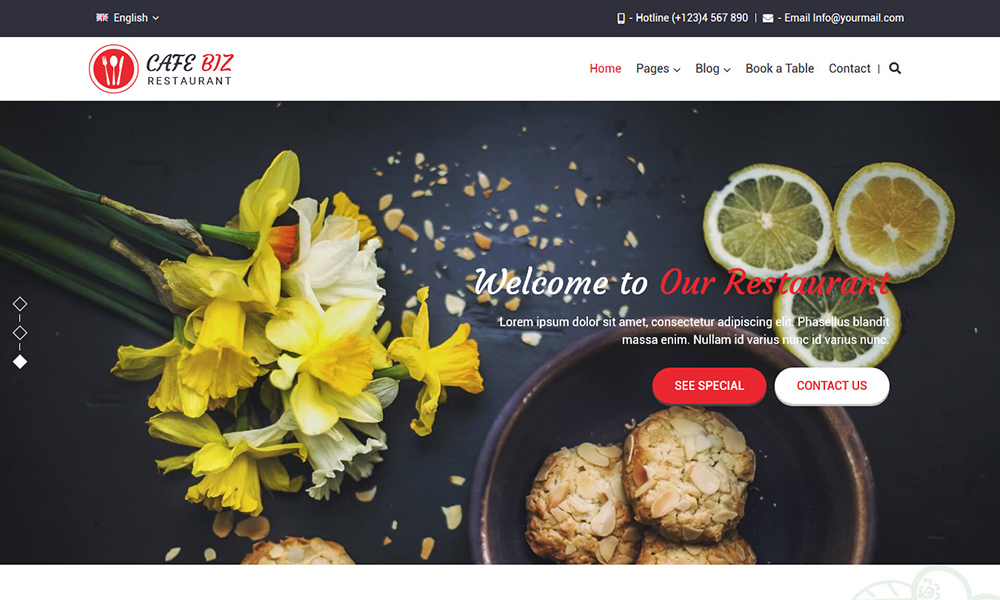 Cafe Biz | Restaurant & Food WordPress Theme
