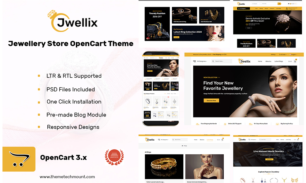 Jwellix - Jewellery Store OpenCart Theme