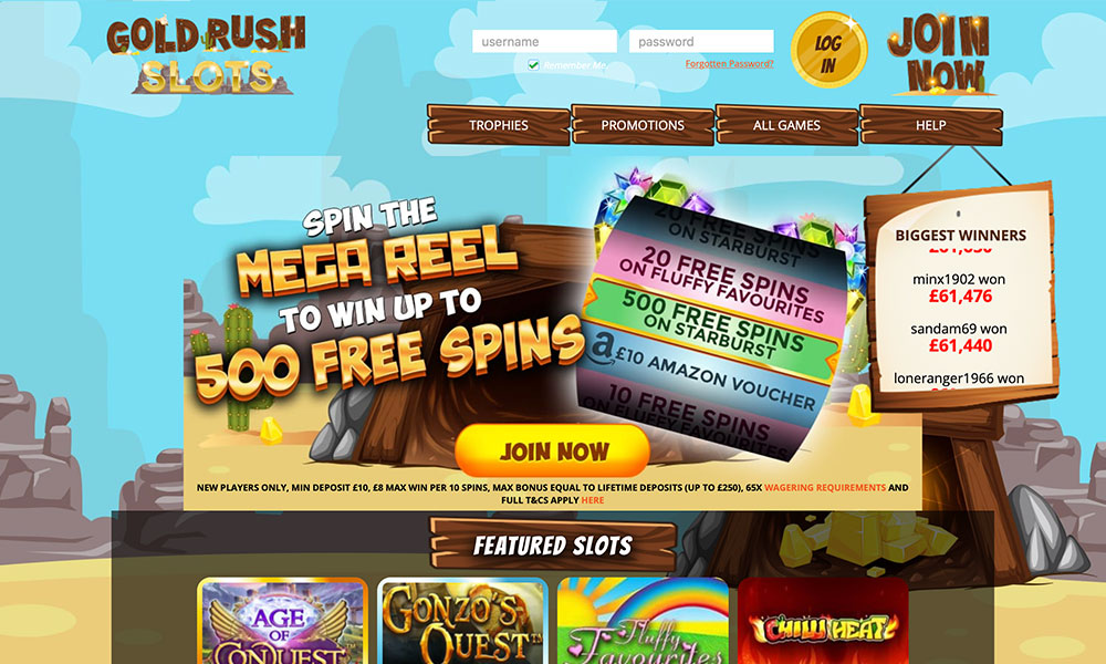Online Slots UK Casino & Instant Win Games - Gold Rush Slots