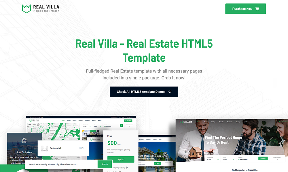 Real Villa - Real Estate HTML5 Template