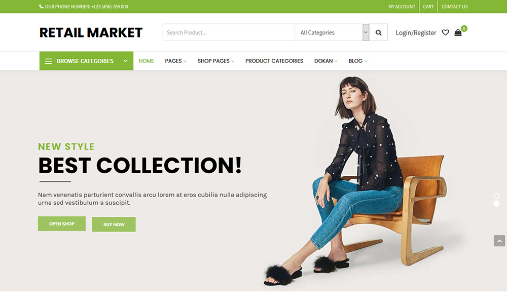 Retail Market - Multi Vendor WordPress Theme