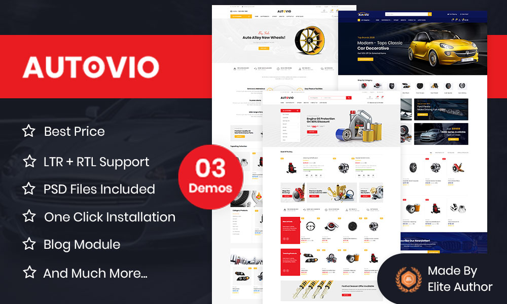 Autovio - Car Accessories, Auto Parts OpenCart Theme