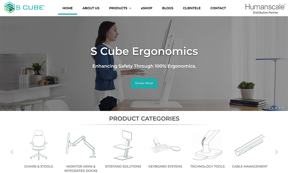Humanscale Showroom C/o. S Cube Ergonomics Private Limited
