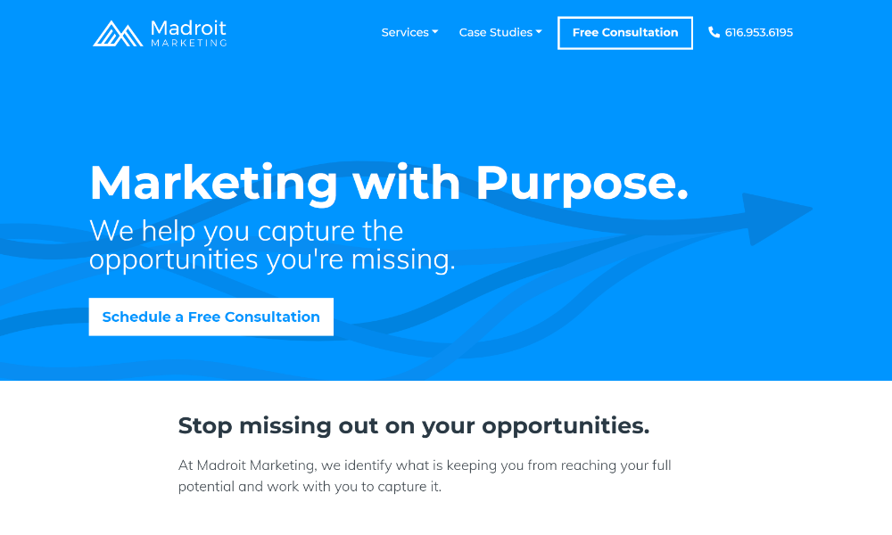 Madroit Marketing Website Design and Development