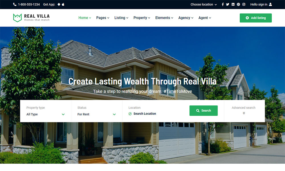 Real Villa - Real Estate HTML5 Template