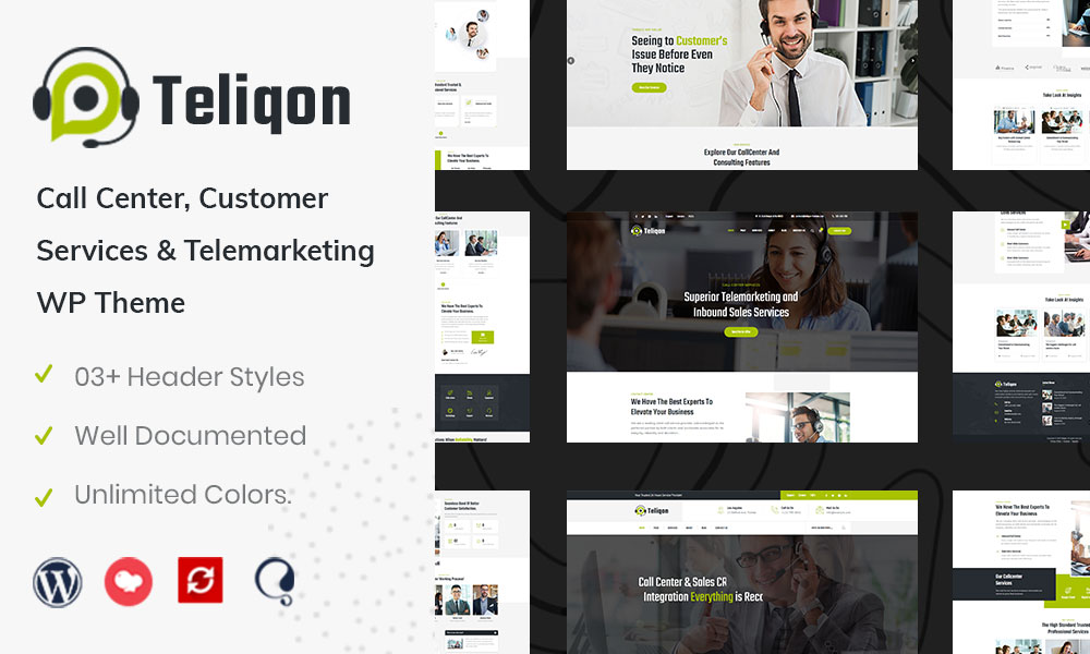 Teliqon | Call Center & Telemarketing WordPress Theme