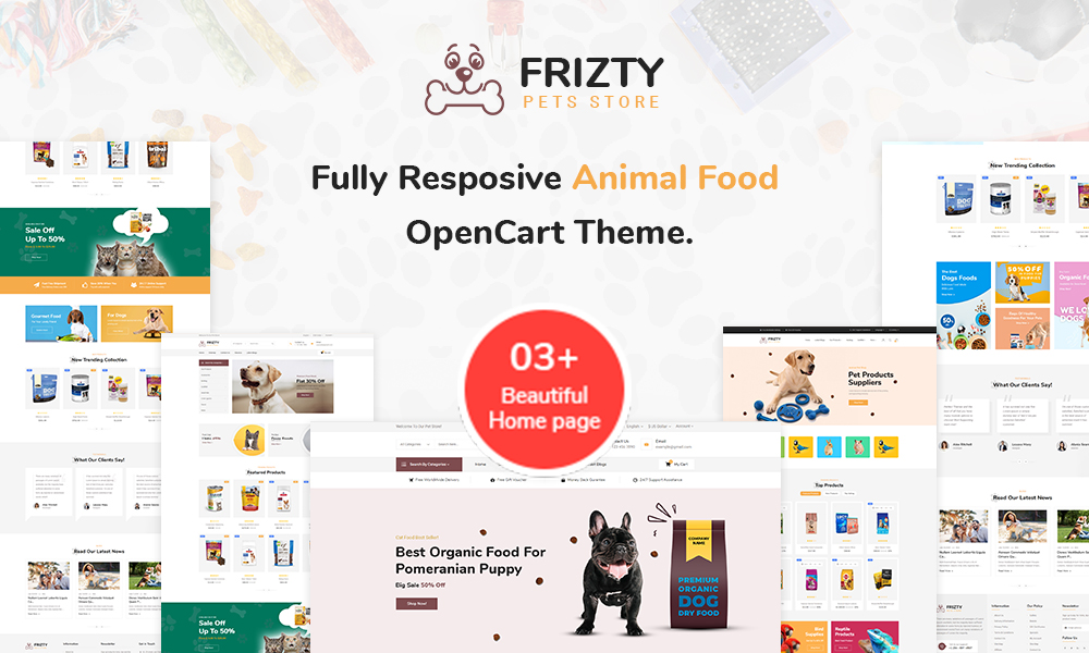 Frizty - Pet Food Store OpenCart Theme