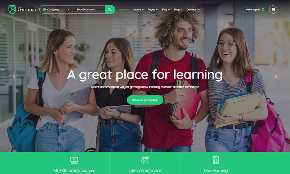 Guruma - Online Course & Education HTML Template