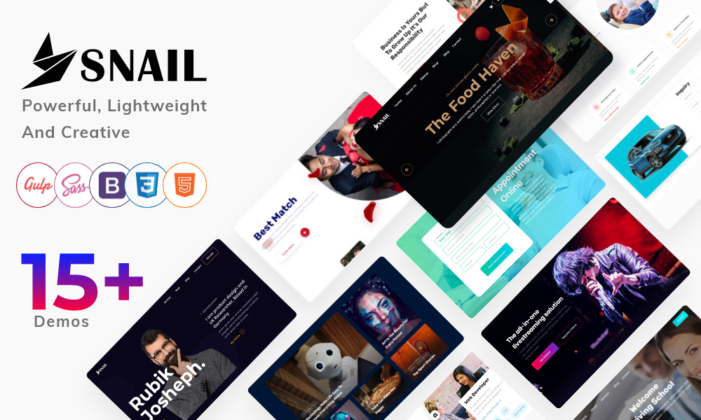 SNAIL - Creative Multipurpose HTML5 Templates