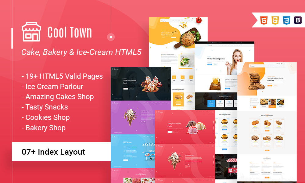 Cool Town Ice Cream Bakery HTML5 Template