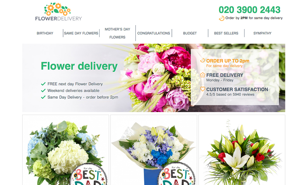 Flower Delivery London - Same day