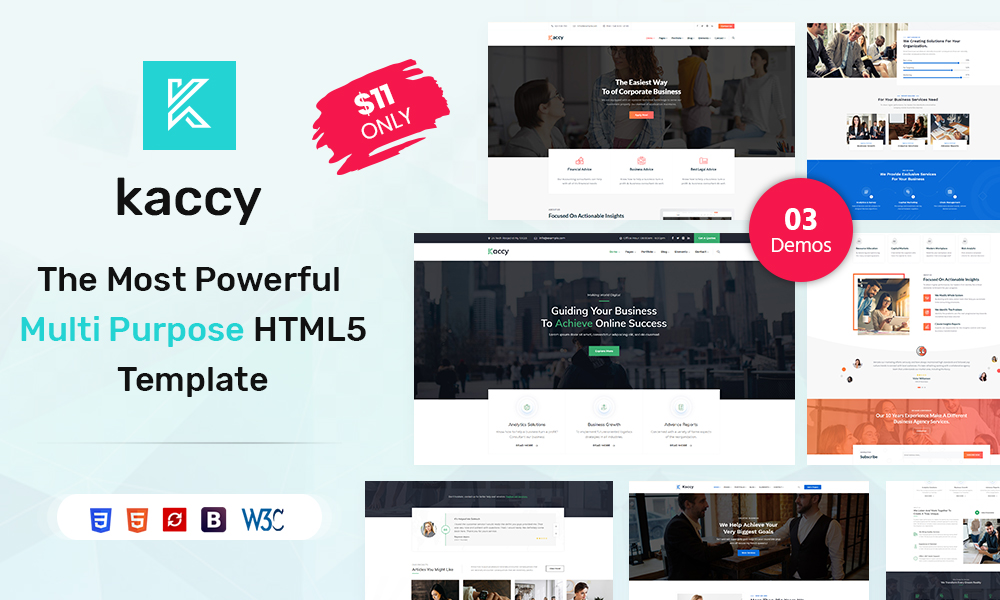 Kaccy - Services Multi-Purpose HTML Template