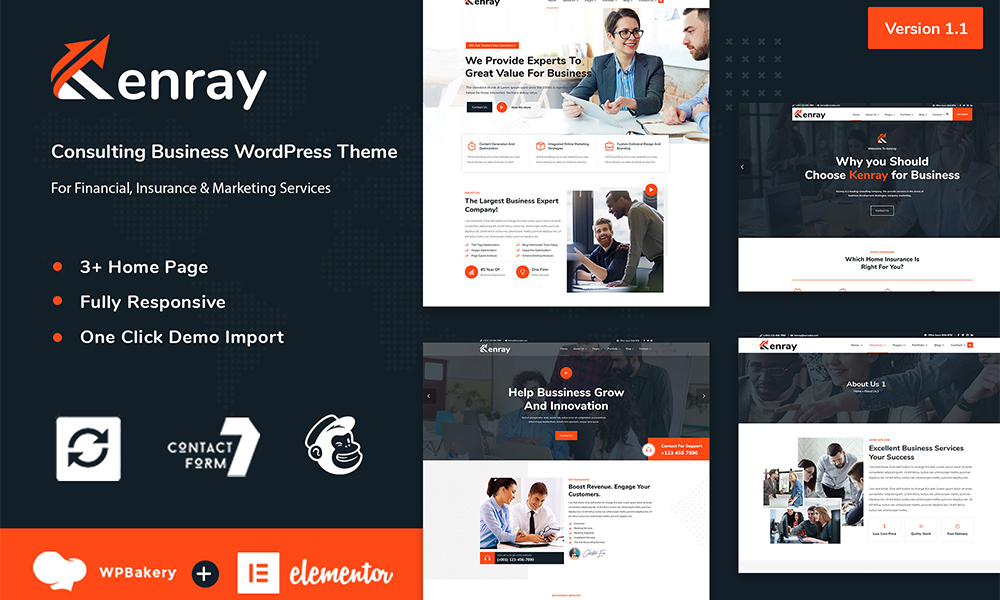 Kenray - Consulting Business WordPress Theme