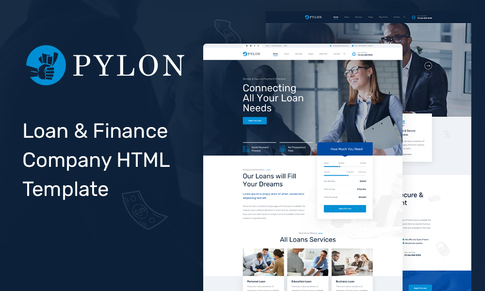 Pylon - Loan & Finance Company HTML Template