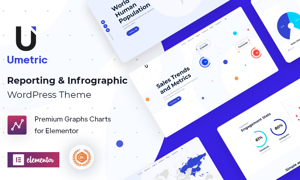 Umetric - WordPress Dashboard, Reporting and Infographic Theme