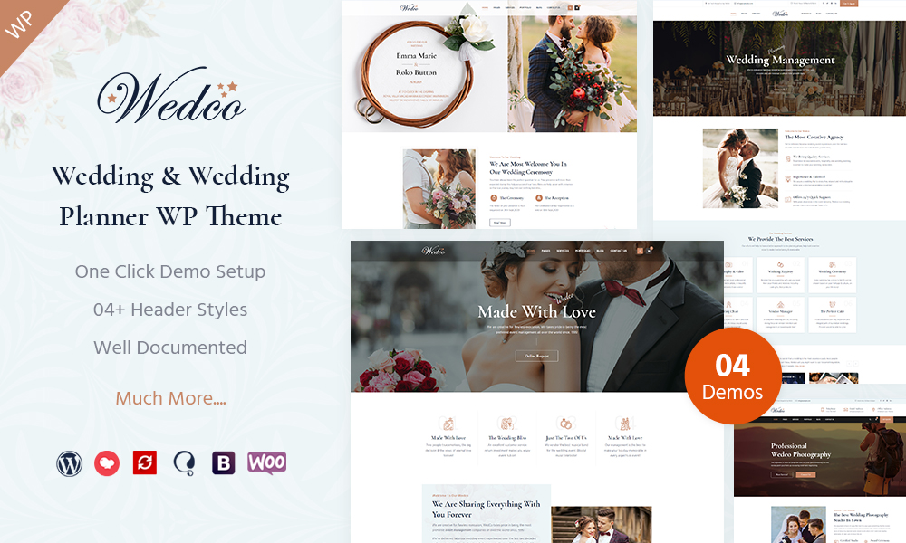WedCo - Wedding WordPress Theme