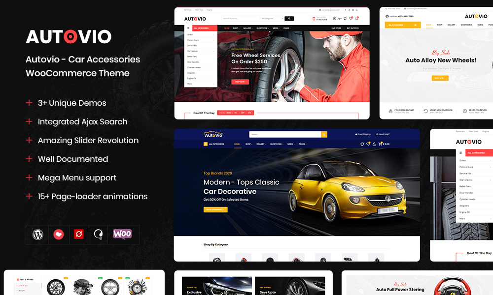 Autovio - Car Accessories WooCommerce Theme