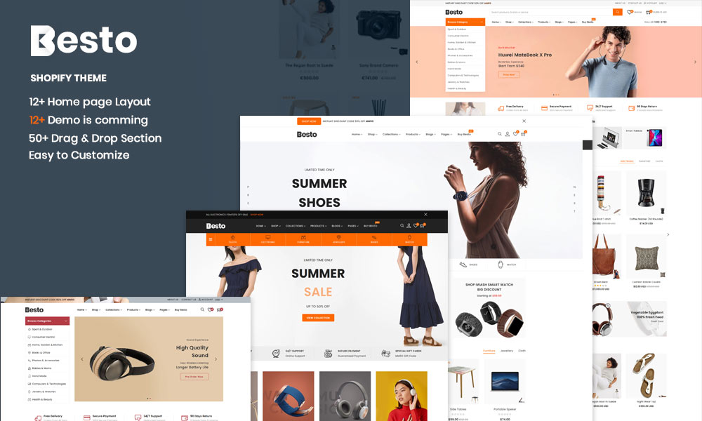 Besto - The Electronics & Clothing Fashion Multipurpose eCommerce Shopify Theme