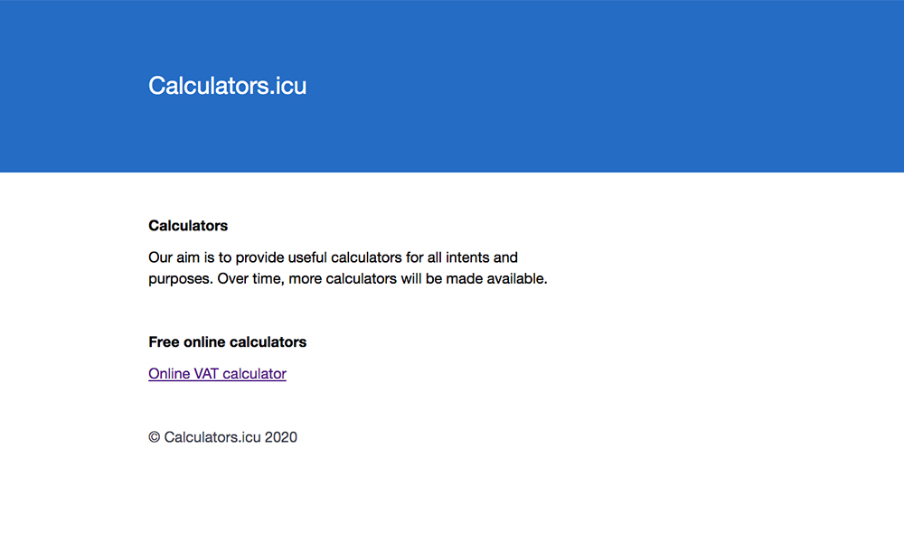 Calculators.icu