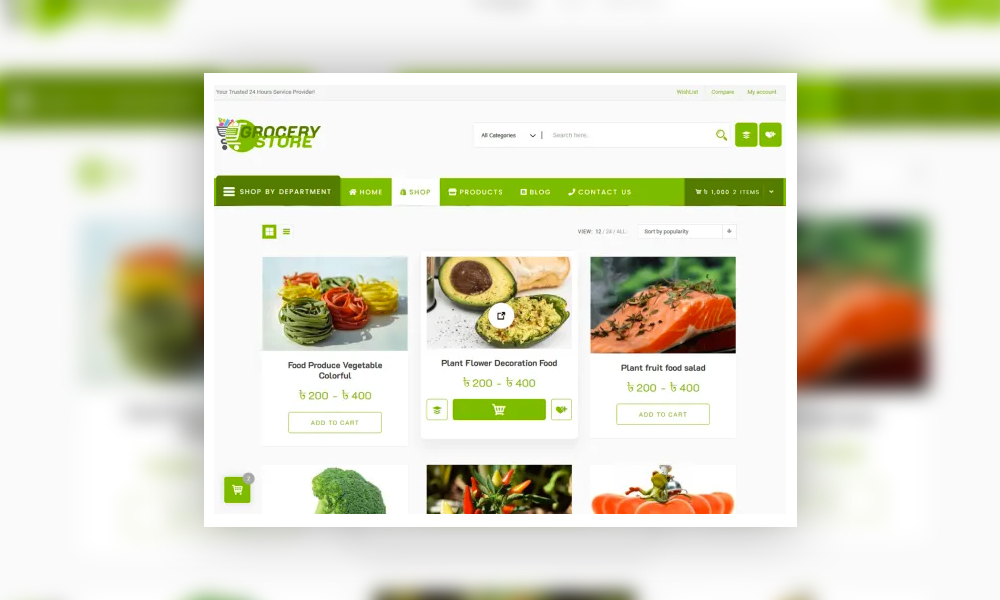 Grocery Store - Free Woocommerce Theme