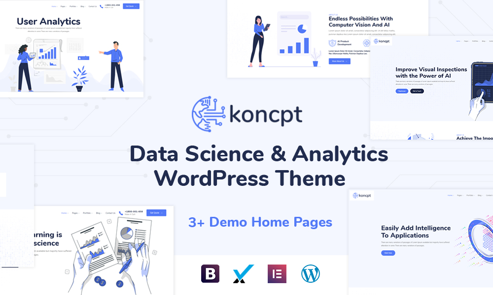 koncpt - Data Science & Analytics WordPress Theme