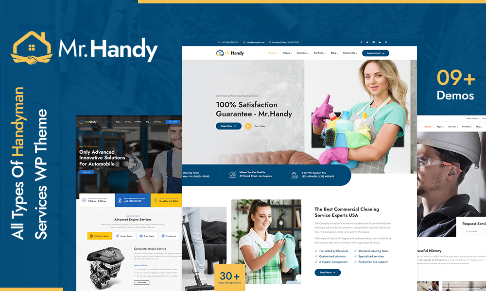 MrHandy – Handyman Services WordPress Theme
