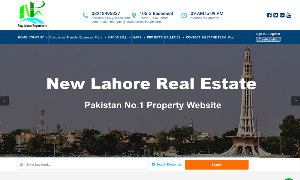 New Lahore Real Estate