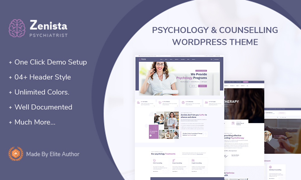 Zenista - Psychology & Counseling WordPress Theme