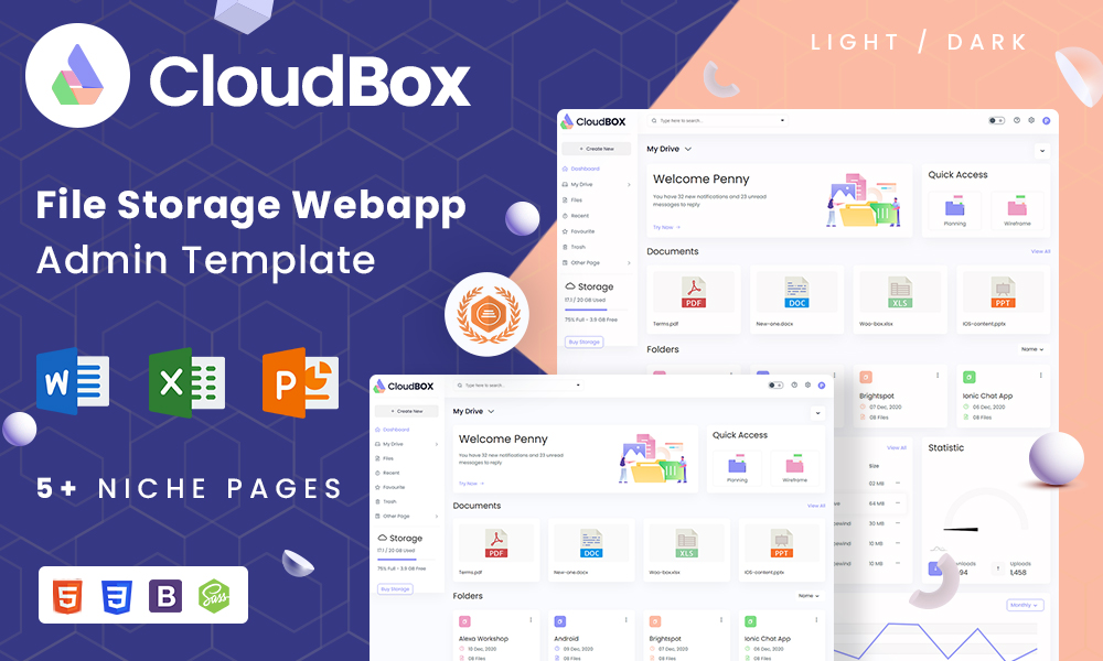 CloudBox | File Storage Admin Dashboard Template