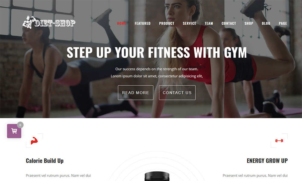 Diet-Shop WordPress Gym Store Theme