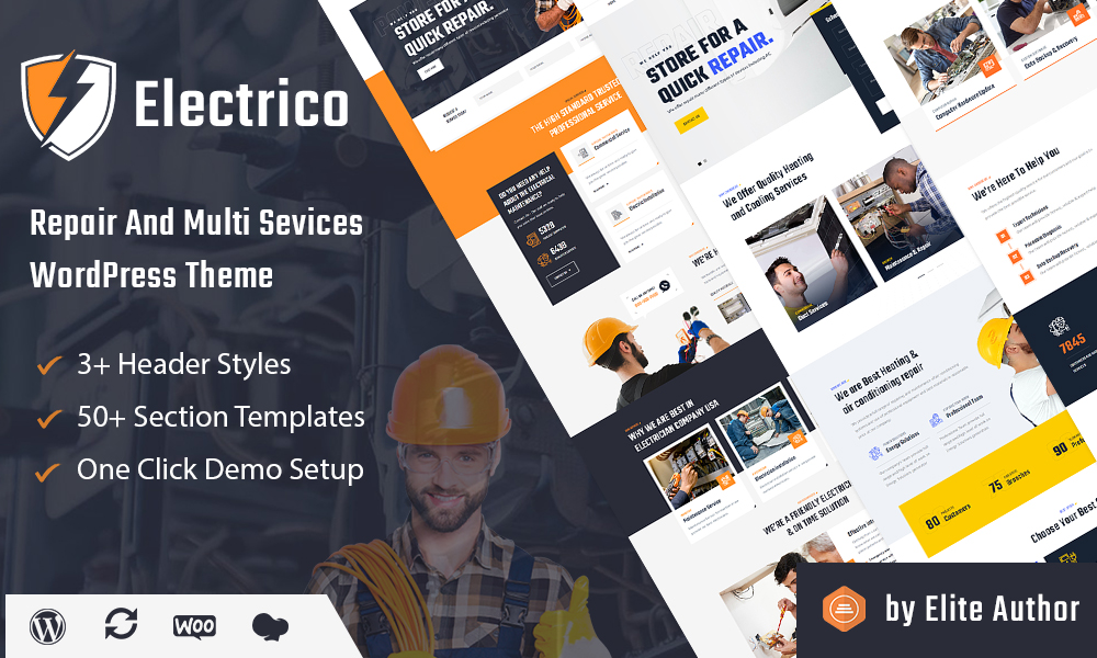 Electrico - Repair and Multi Services WordPress Theme