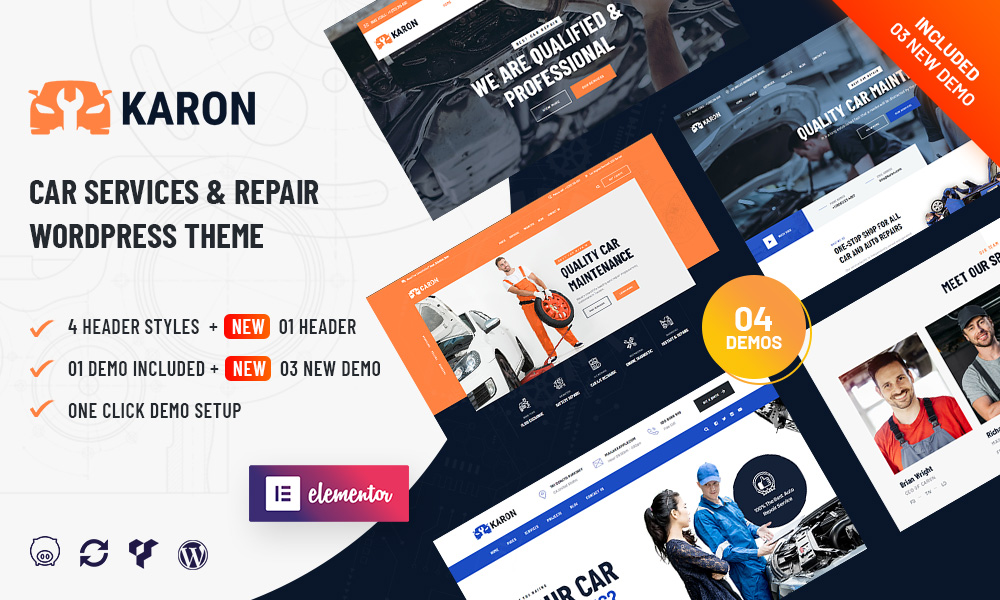 Karon - Car Repair and Service WordPress Theme
