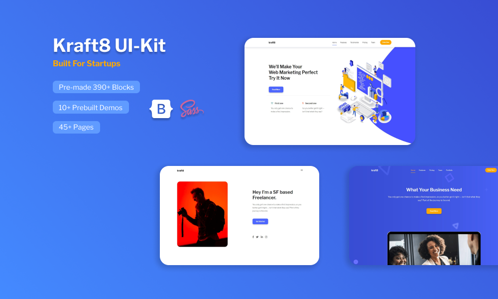 Kraft8 UI Kit Template