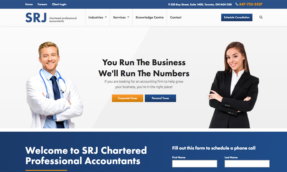 SRJ Professional Accountants Mississauga