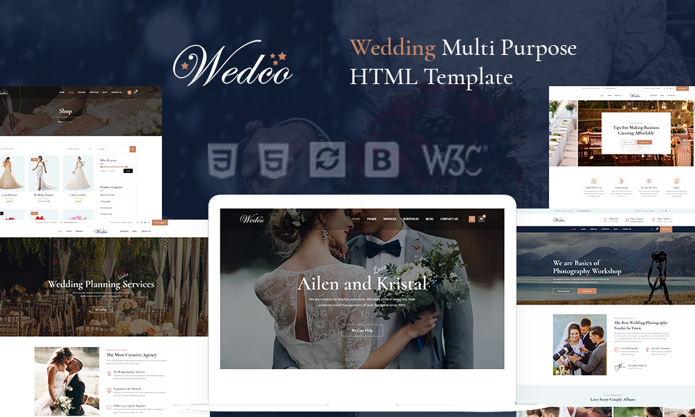 WedCo - Wedding HTML Template