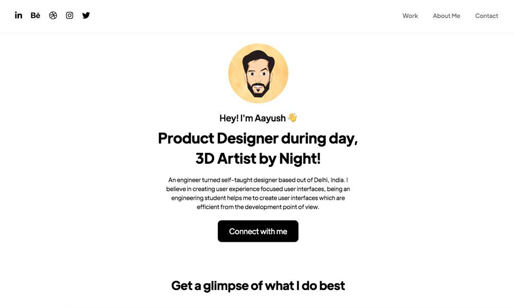 Aayush Saini | Product Designer | 3D Artist