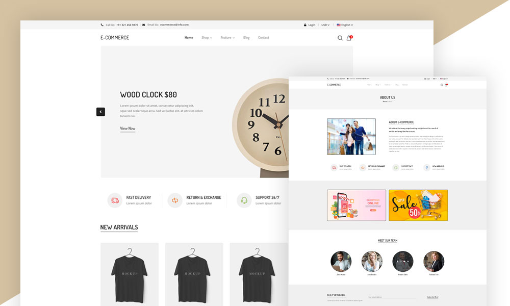 eCommerce Website Template