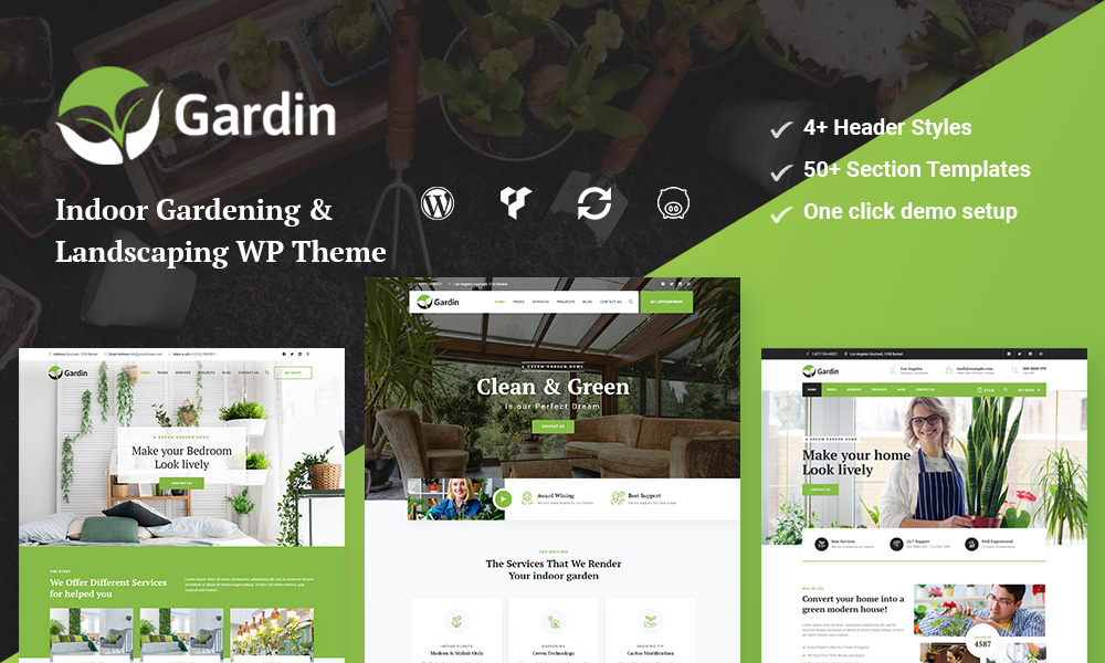 Gardin - Indoor Gardening WordPress Theme