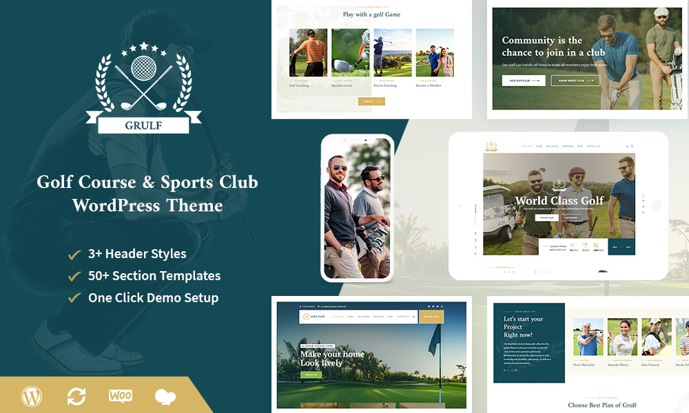 Grulf - Golf Course & Sports Club WP Theme