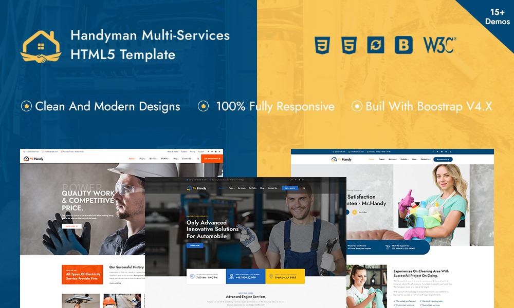 MrHandy – Handyman Multi-Services HTML Template