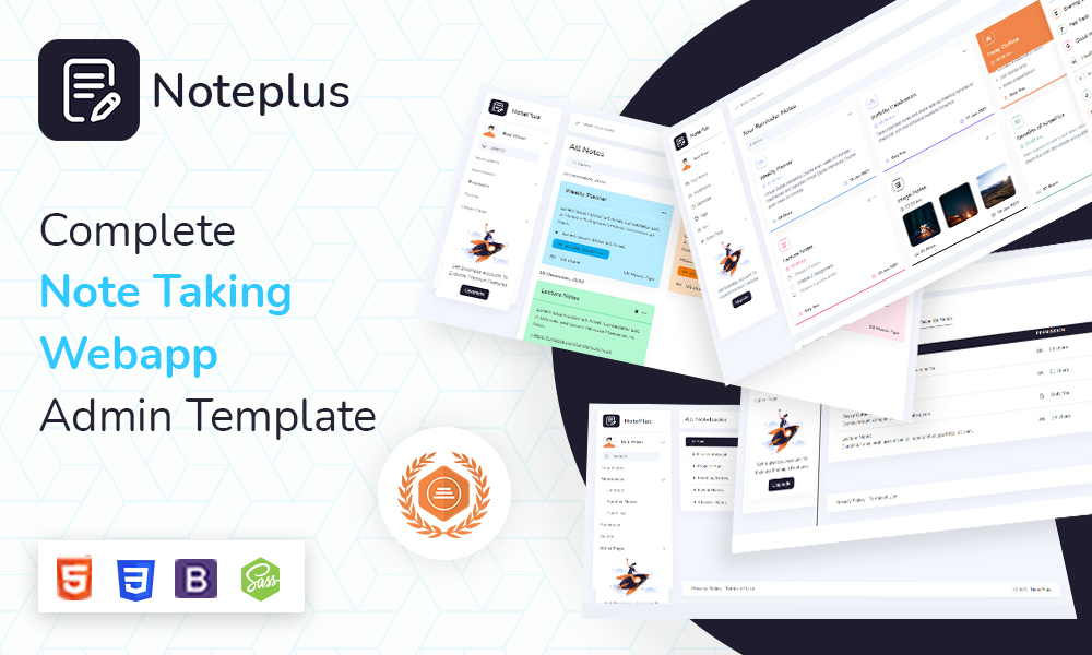 Noteplus | Note Taking Admin Template