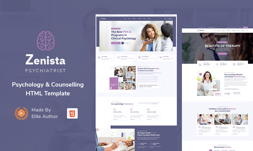 Zenista - Psychology & Counseling HTML Template