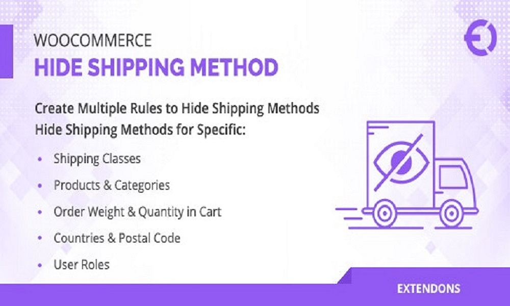 WooCommerce Hide Shipping Method Plugin