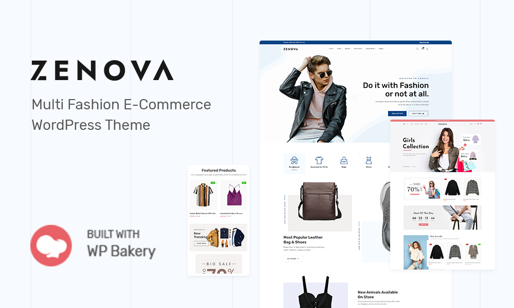 Zenova, Fashion WooCommerce WordPress Theme