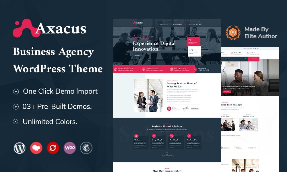 Axacus - Business Agency WordPress Theme