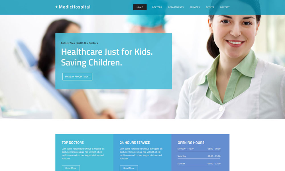 Hospital Landing Page