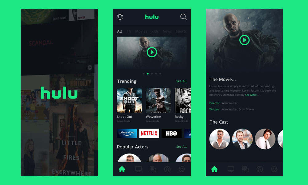 Hulu App Redesign Challenge