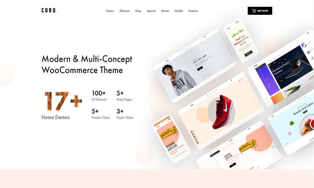 Coro - MultiPurpose WooCommerce Theme With MultiVendor