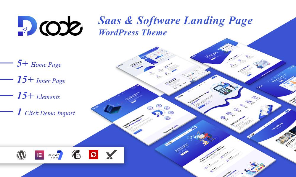 DCode - SaaS & Software Landing Page WordPress Theme